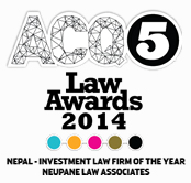 Investment Law Firm of the Year - ACQ Law Awards 2014