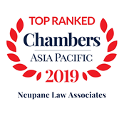Chambers Asia-Pacific 2019 Band 1 for Corporate/Commercial
